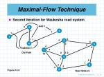 maximal flow technique19