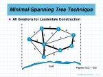 minimal spanning tree technique11