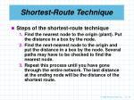 shortest route technique24