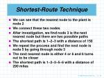 shortest route technique25