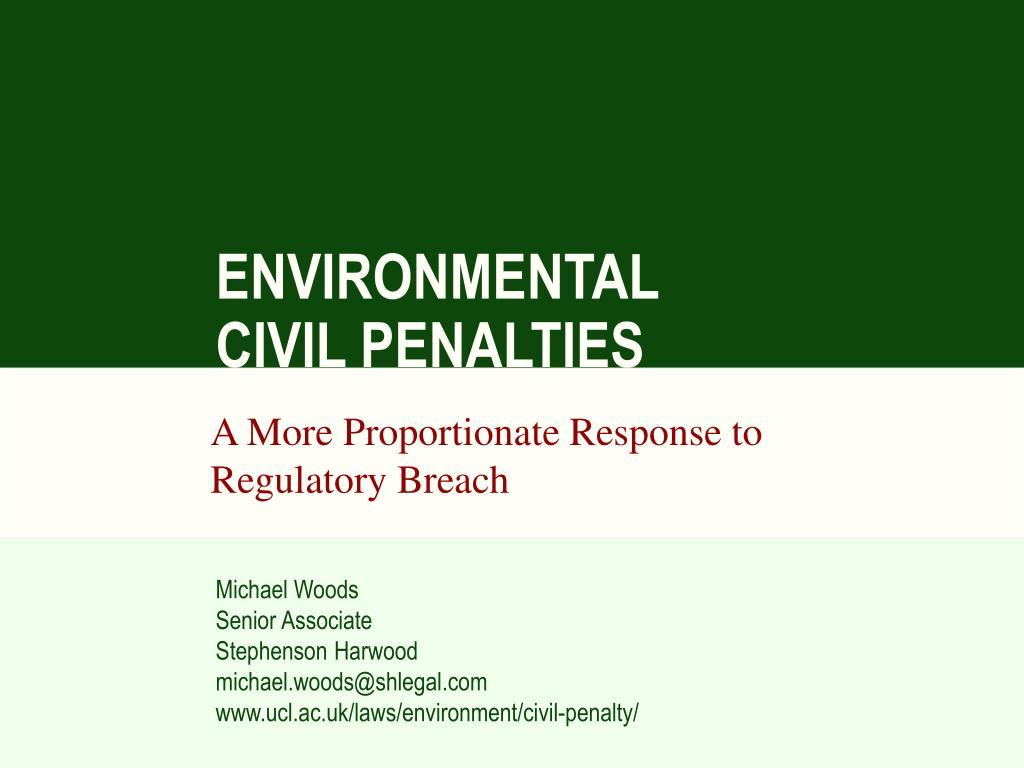 environmental civil penalties l.