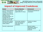 impact of improved cookstoves