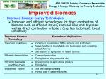 improved biomass