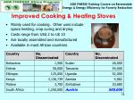 improved cooking heating stoves