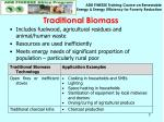 traditional biomass
