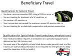 beneficiary travel
