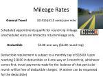 mileage rates