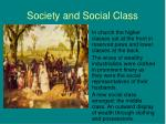 society and social class