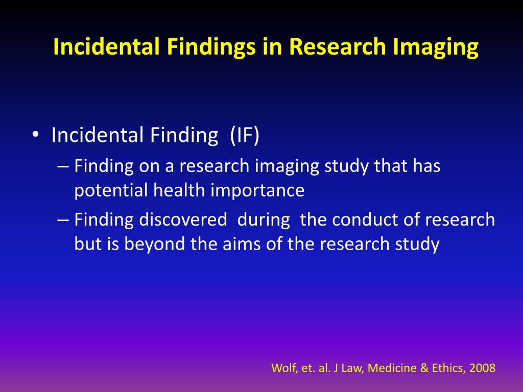 incidental findings in research imaging l.