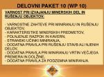 delovni paket 10 wp 10
