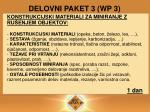 delovni paket 3 wp 3