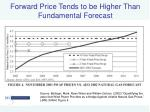 forward price tends to be higher than fundamental forecast