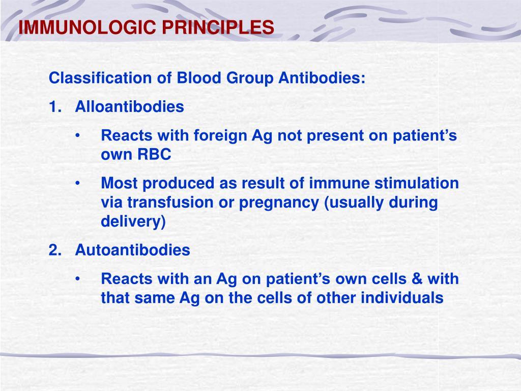 IMMUNOLOGIC PRINCIPLES