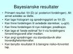 bayesianske resultater