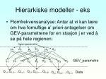 hierarkiske modeller eks