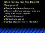 fixed facility haz mat incident management
