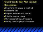 fixed facility haz mat incident management30