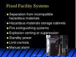 fixed facility systems13