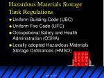 hazardous materials storage tank regulations