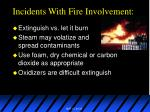 incidents with fire involvement