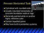 pressure horizontal tank