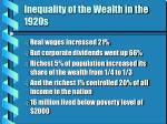 inequality of the wealth in the 1920s10