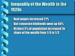 inequality of the wealth in the 1920s8