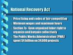 national recovery act42