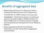 benefits of aggregated data