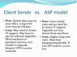 client server vs asp model