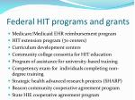 federal hit programs and grants