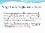 stage 1 meaningful use criteria76