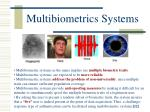 multibiometrics systems