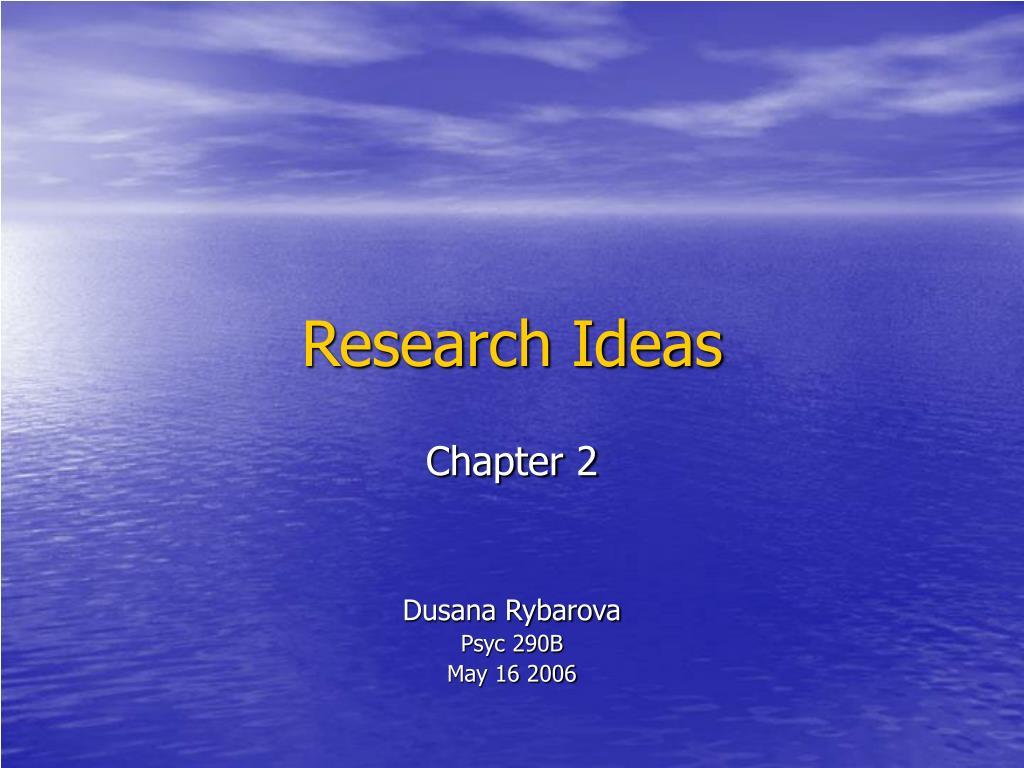 research ideas l.