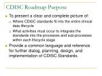 cdisc roadmap purpose