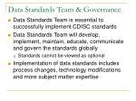 data standards team governance