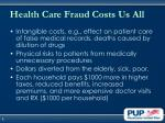 health care fraud costs us all