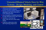 unmanned manned vehicle steer by wire systems design modeling and control