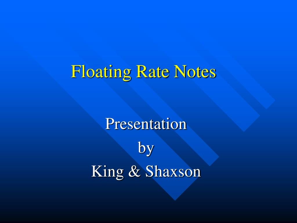 floating rate notes l.