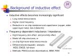background of inductive effect