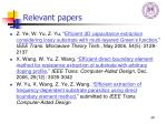 relevant papers