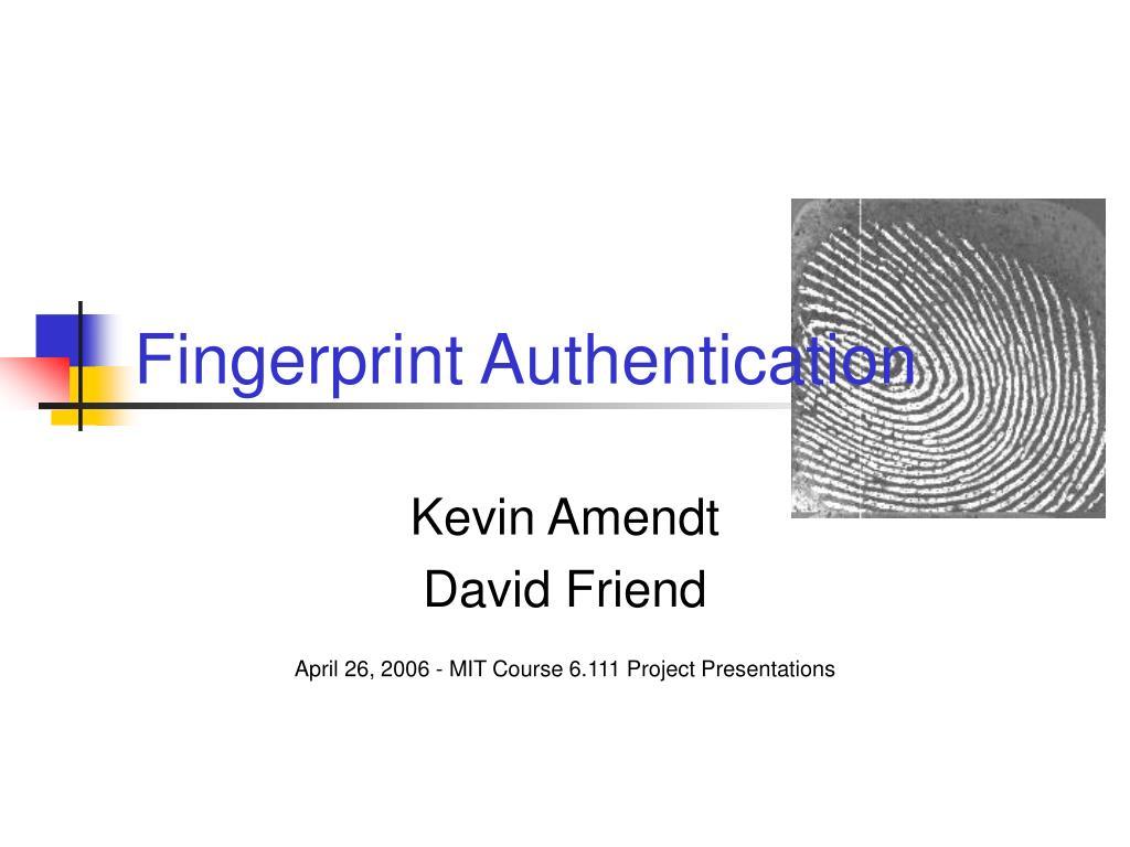 fingerprint authentication l.