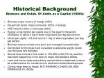 historical background biomass and estab of addis as a capital 1880s