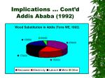 implications cont d addis ababa 1992