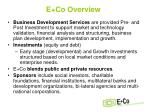 e co overview