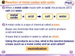 reaction of metal oxides with acids