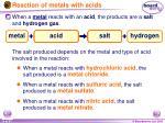 reaction of metals with acids14