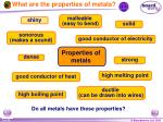 what are the properties of metals
