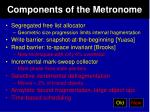 components of the metronome