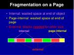 fragmentation on a page